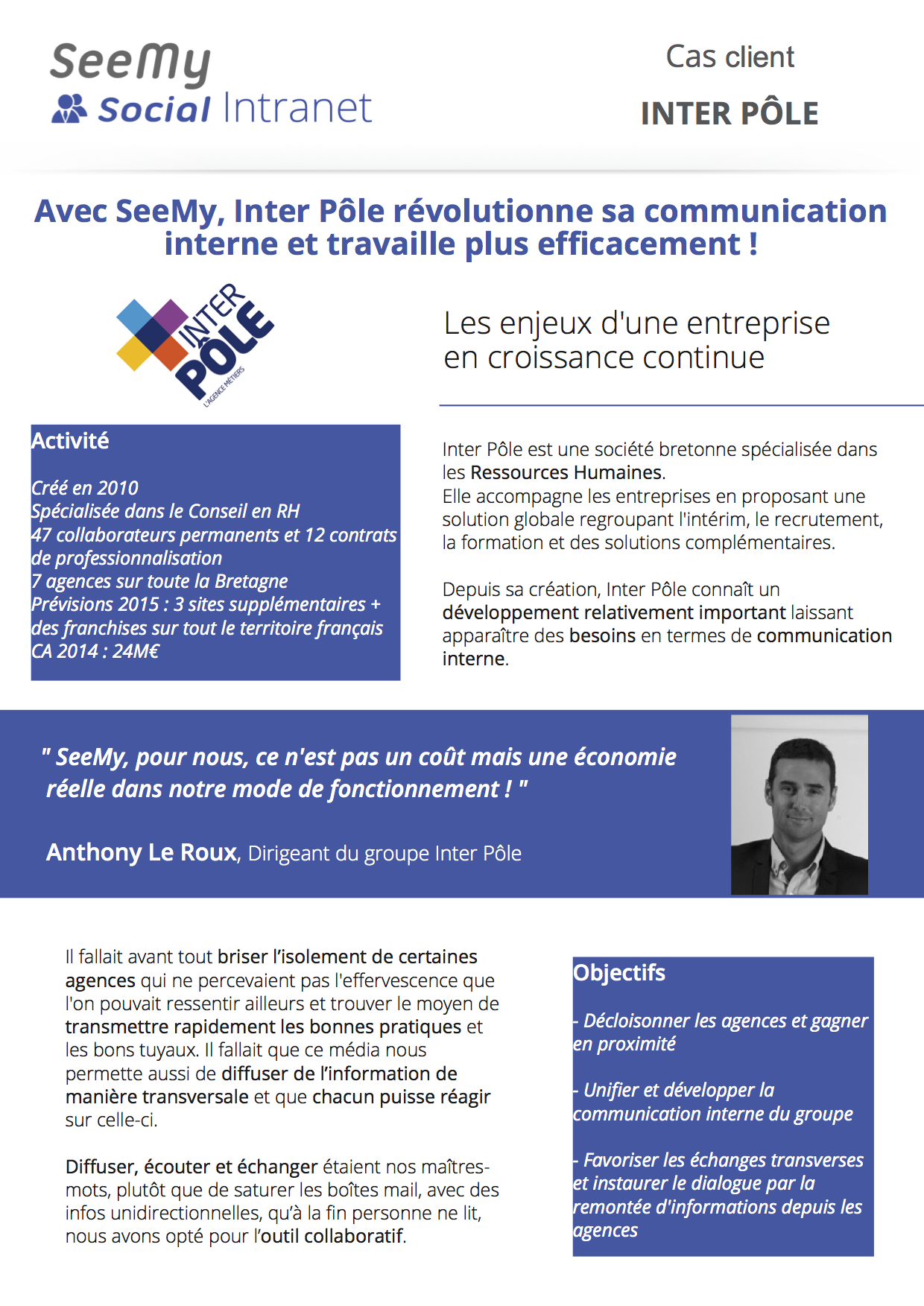 Cas client SeeMy Social Intranet - InterPôle1