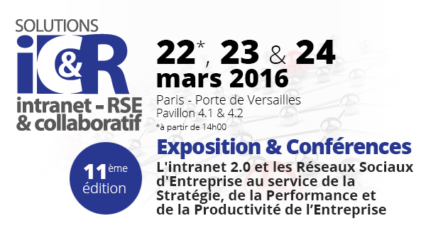Save the date : Rencontrez SeeMy au prochain Salon Intranet Collaboratif et RSE
