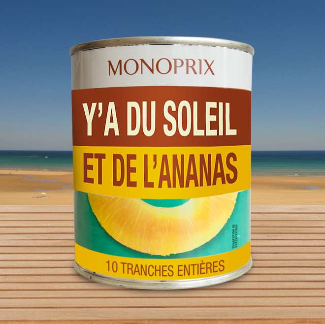 packaging Monoprix ananas